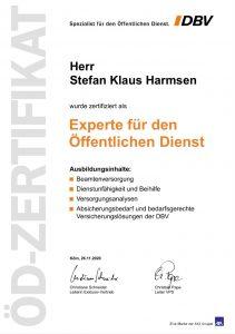 Zertifikat Experte für den Öffentlichen Dienst Stefan Klaus Harmsen